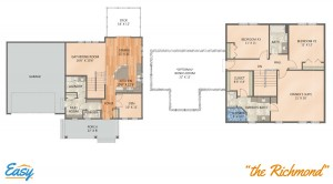 "Floor plans for the ""Richmond"" home design from Easy Duluth"