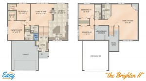 """Floor plans for the """"Brighten II"""" home design from Easy Duluth"""