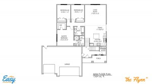 "Floor plans for the ""Flynn"" home design from Easy Duluth"